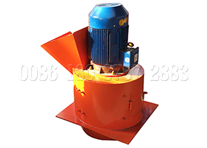 Chain type crusher for organic waste composting