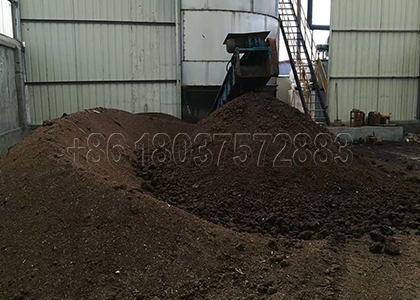 Compost fertilizer produced from Automatic Compost Machine