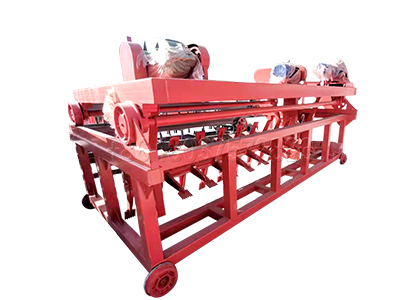 Groove type organic composting machine